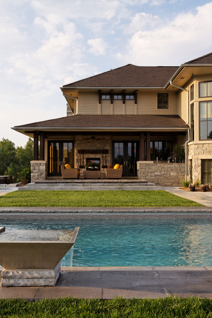 Modern Prairie Home contemporary-pool
