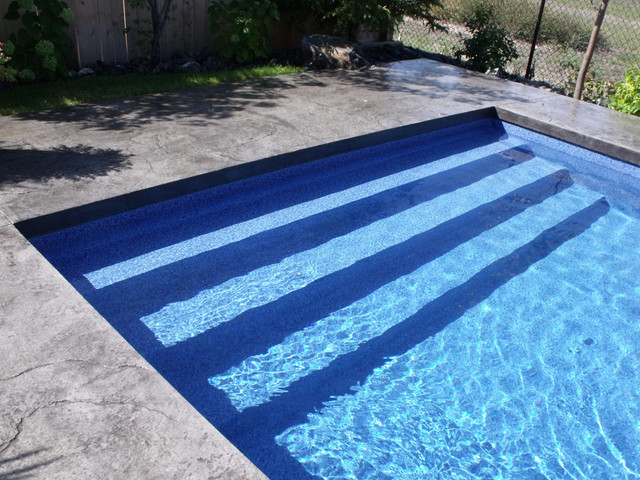 Modern Rectangle Pool Design Tropical Pool Other