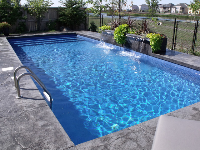 modern rectangle pool design tropical pool - Rectangle Pool