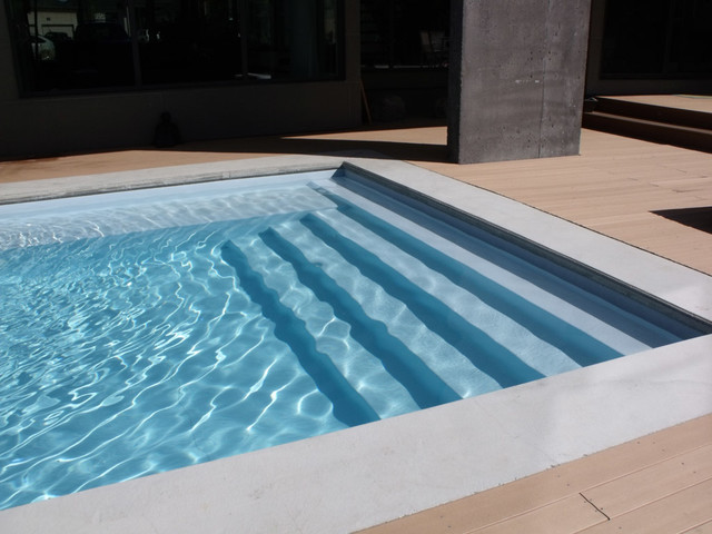 Modern Rectangle Pool Design - Tropical - Swimming Pool & Hot Tub ...