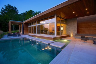 modern retreat 10772 | contemporary pool