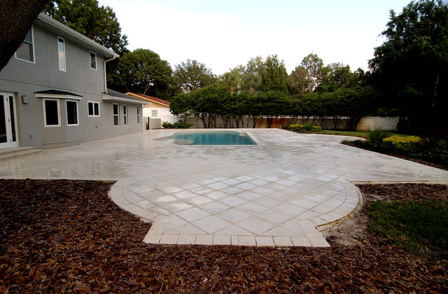 Modern Revival traditional-pool