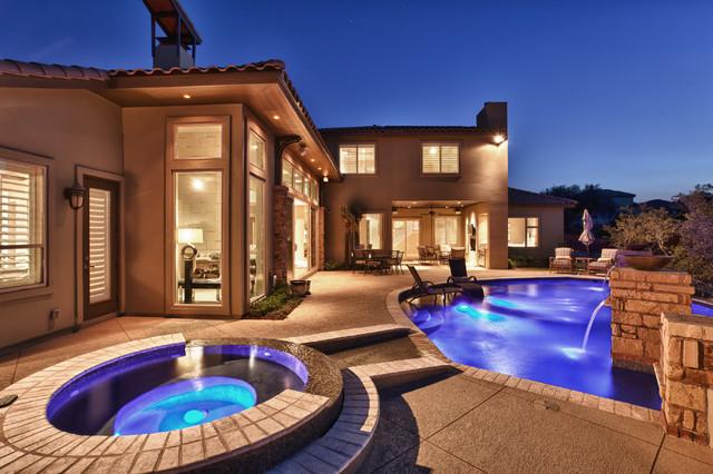 Modern santa fe style modern pool austin by for Santa fe style home designs
