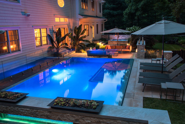 Modern Swimming Pool Design NJ - Modern - Pool - new york - by Cipriano Landscape Design ...