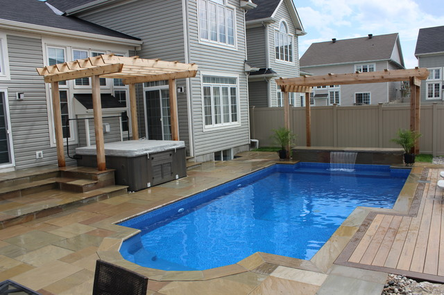 Modern Swimming Pool Ottawa Modern Pool Ottawa By Mallette Landscaping Pools