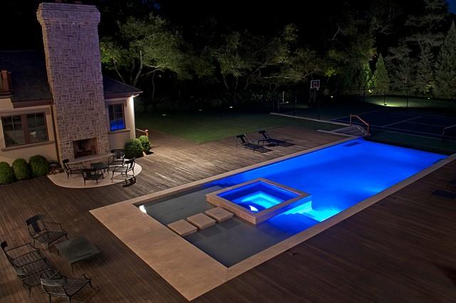 Modern Tuscan Estate modern-pool