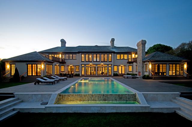 Modern Tuscan Estate contemporary-pool