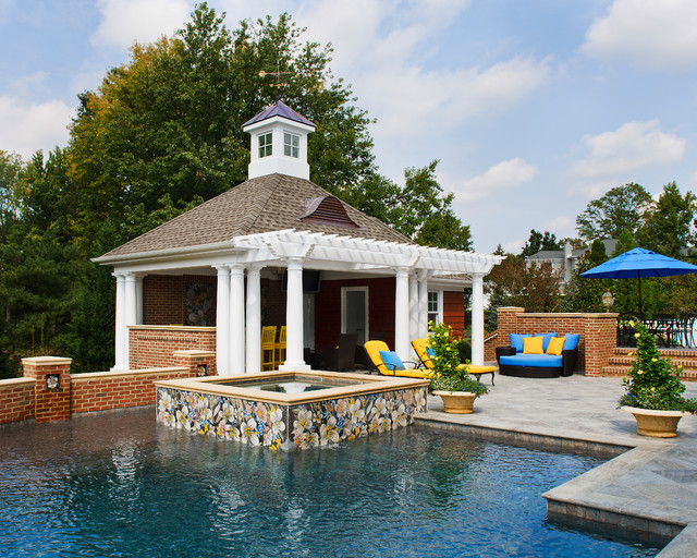 Moorestown Poolhouse-2 traditional-pool