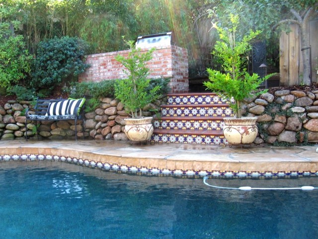More baths from Latin Accents tiles mediterranean-pool