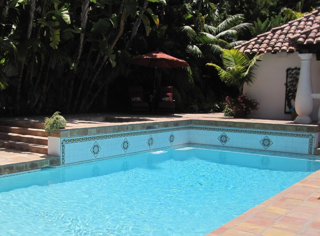 More pool photos from Latin Accents tiles mediterranean-pool
