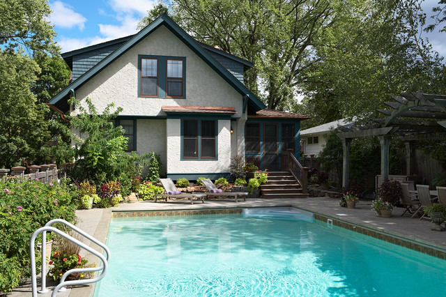 Morningside Bungalow Craftsman Pool Minneapolis By