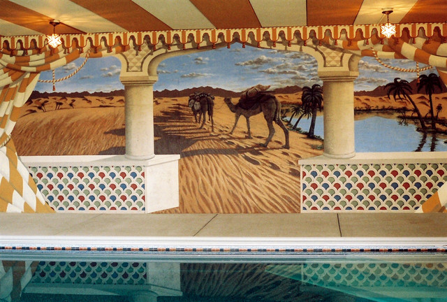 Moroccan Mural by Tom Taylor of Mural Art LLC in Virginia