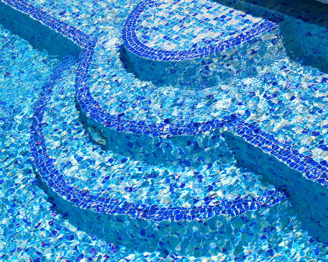 Mosaic Glass Tile Steps Eclectic Pool Vancouver By