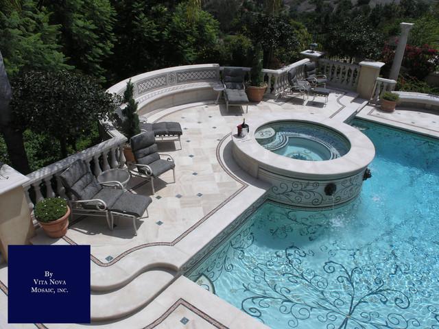 mosaic pool traditional pool