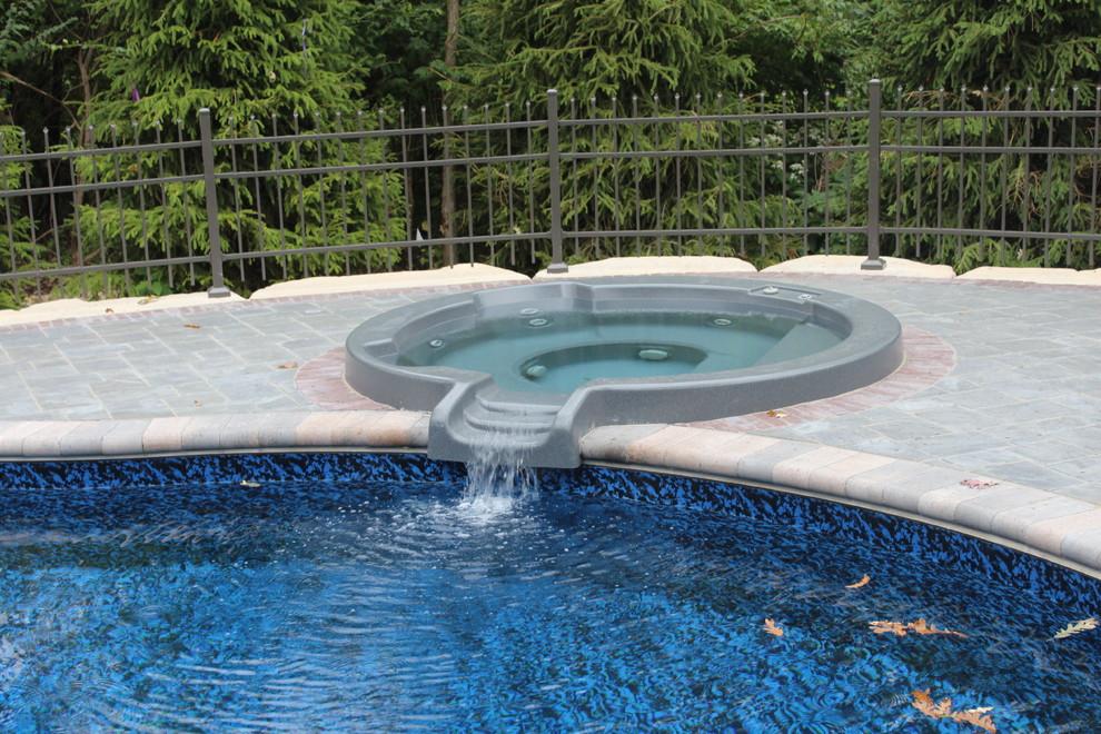 Mountain Lake Steel Vinyl Liner - Mediterranean - Pool ...
