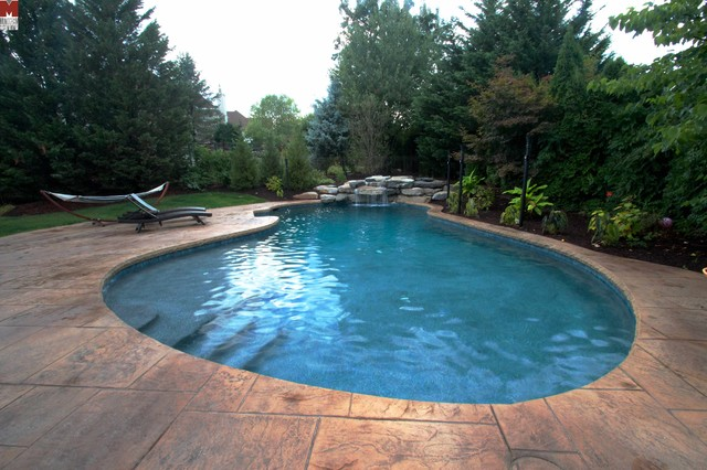 inground pools with waterfalls and hot tubs. Mountain Lake Style Inground Salt Water Pool With Waterfall Contemporary-swimming-pool-and Pools Waterfalls And Hot Tubs