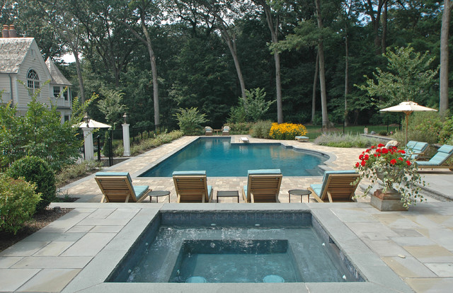 Muttontown Pool With Lap Lane Traditional Pool New