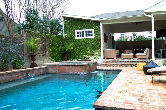 My houzz colorful eclectic style in a traditional new for Pool design new orleans