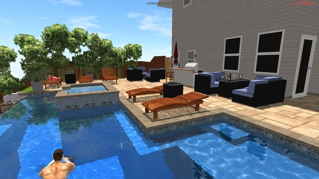 My pool Design modern-pool