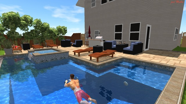 My pool design modern pool san diego for Design my pool