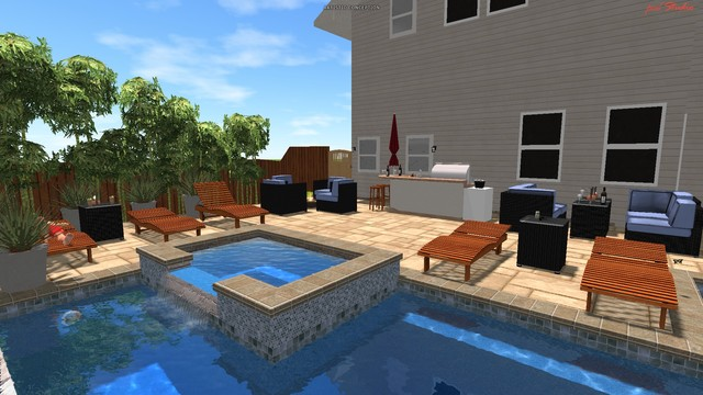 My pool Design - Modern - Swimming Pool & Hot Tub - San Diego - by ...