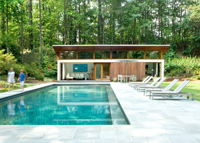 Nancy Creek Guesthouse And Pool Modern Pool Atlanta
