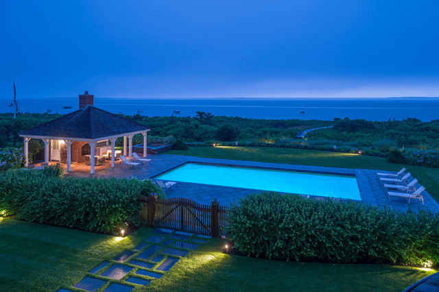 nantucket residence beach style pool boston by sudbury design group