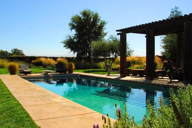 Napa Style Residence Mediterranean Pool Sacramento