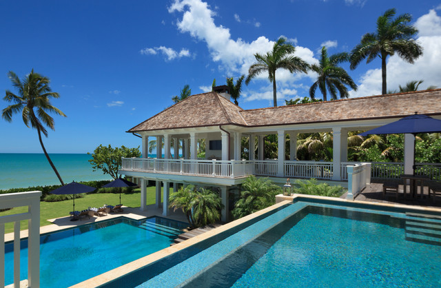 Naples Beachfront Custom Residence Beach Style Pool