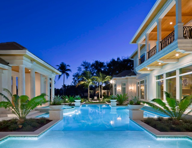 Naples fl custom home traditional pool miami by for Pool design naples fl