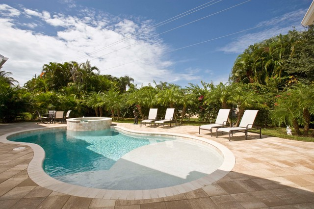 Naples old florida beach home tropical pool other for Pool design naples fl