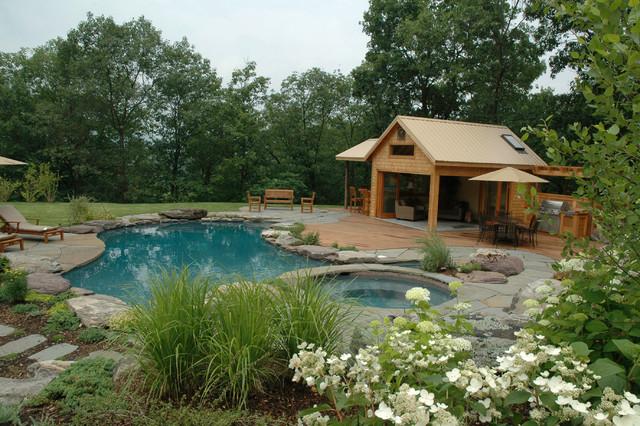 Natural lagoon pool - Traditional - Pool - New York - by Jardin ...