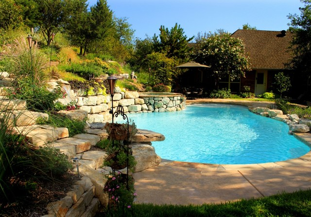 Natural Lagoon Swimming Pool In Weatherford Tx Traditional Pool Dallas By Water Wizard
