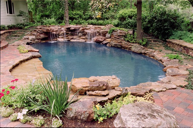 Natural landscape and pool renovation eclectic pool for Exterior worlds landscape design