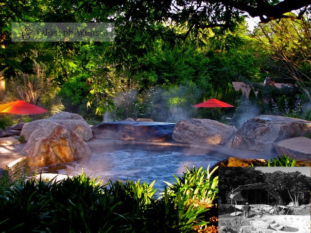 Natural Stone Spa Design traditional-pool
