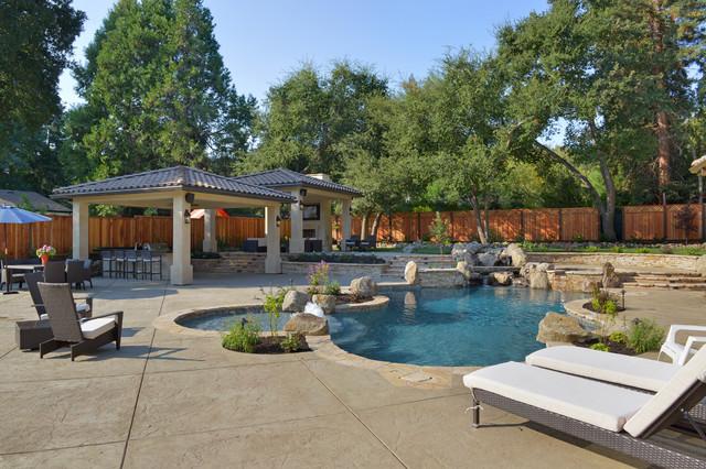 Natural Swimming Pool In Alamo Ca Mediterranean Pool San Francisco By Creative Environments