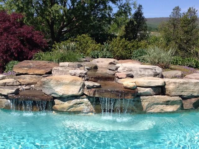 Natural Waterfall Contemporary Pool Philadelphia By Premier Pool Renovation