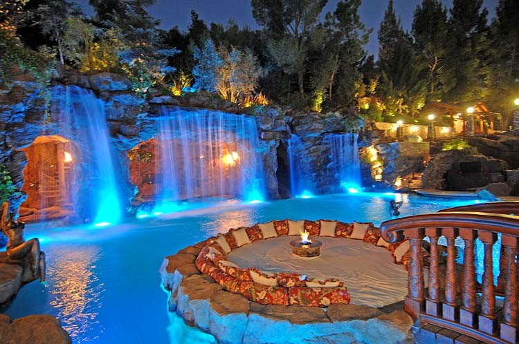 Naturalistic Pools with Grotto
