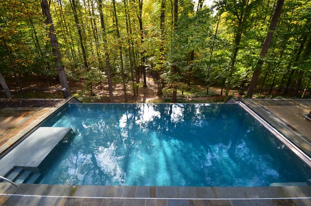 Negative Edge Pool Overlooking Woods