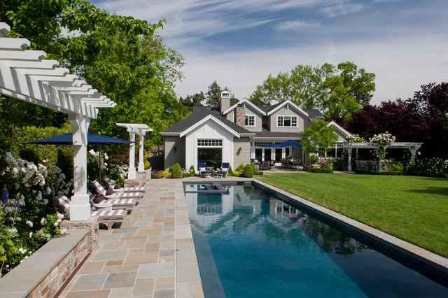 Neo traditional cottage traditional pool san for Houzz landscape architects