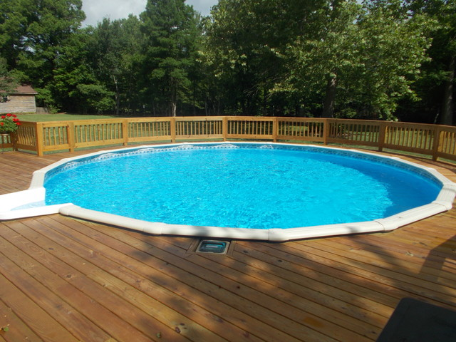 New above ground doughboy pool pool other by outdoor - Above ground swimming pools orlando florida ...