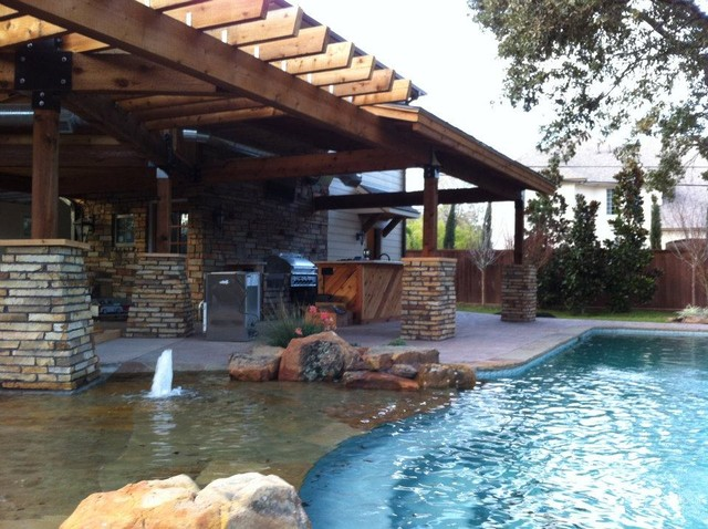 New Addition W Indoor And Outdoor Living Kitchen Pool