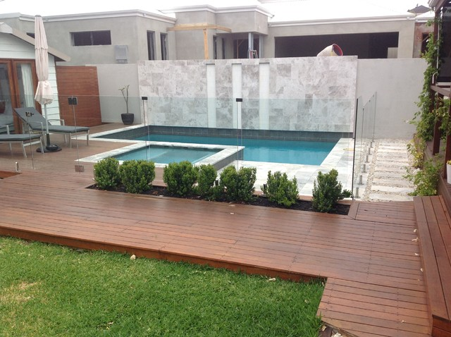 New concrete swimming pool and outdoor entertainment area for Swimming pool entertaining areas
