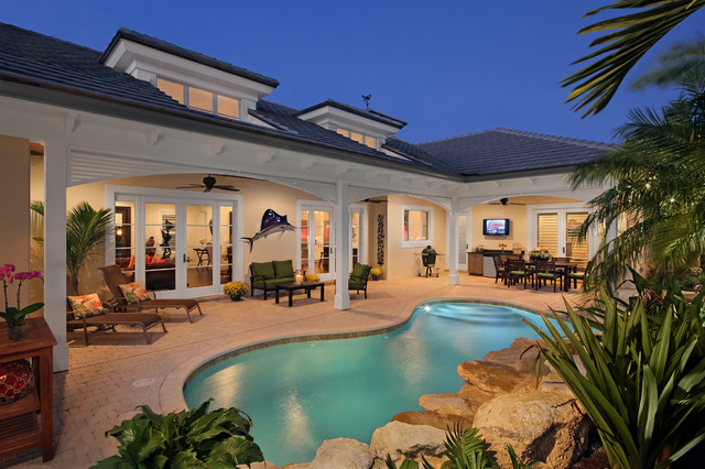 New florida traditional pool other metro by rjs for Pool veranda designs
