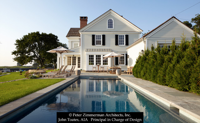 New Greek Revival House - Southport, CT traditional-pool