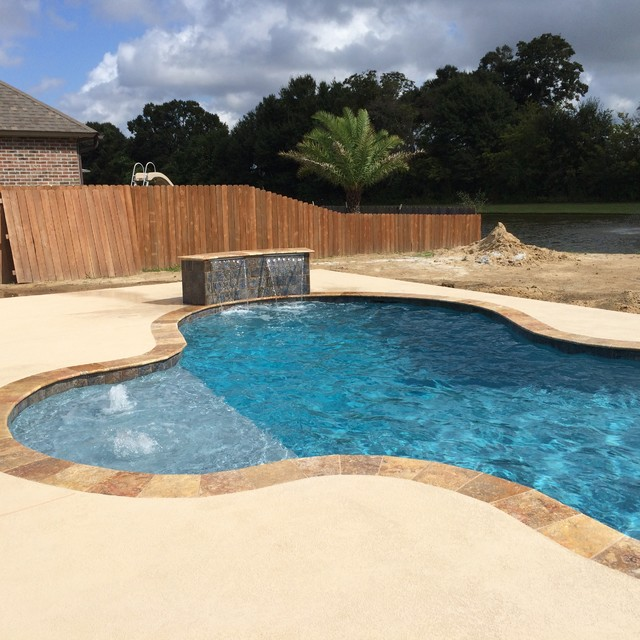 New Gunite Swimming Pool - Contemporary - Pool - New Orleans ...