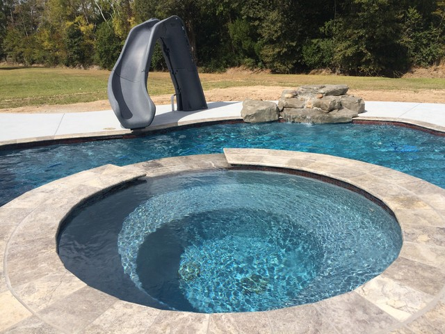 New Gunite Swimming Pool Contemporary Pool New Orleans By Paradise Pools And Patios Of