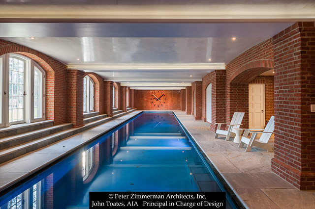 New Indoor Lap Pool Traditional Pool Philadelphia By John Toates Architecture And Design