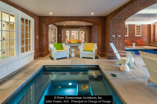 New Indoor Lap Pool - Traditional - Swimming Pool & Hot Tub ...