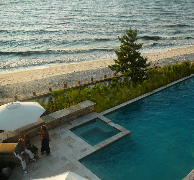 New Jersey Beach House Landscape contemporary-pool